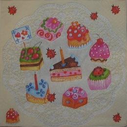 1045. Пирожные на салфетке. 10 шт., 6,5 руб/шт