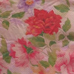 1078. Цветы на розовом. 5 шт., 10 руб/шт