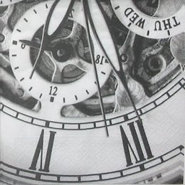 12063. Черно-белые часы. 10 шт., 11 руб/шт
