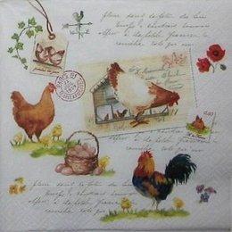 12088. Куриная семья и письмена. 15 шт., 20 руб/шт