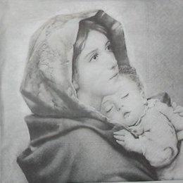 12100. Мама со спящим младенцем