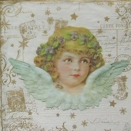 12106. Ангел на золотых письменах. 10 шт., 14 руб/шт