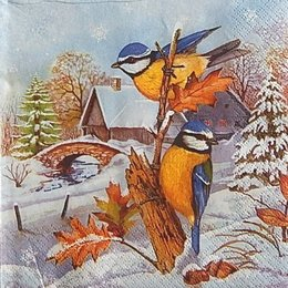 12110. Синички зимой. 5 шт., 17 руб/шт