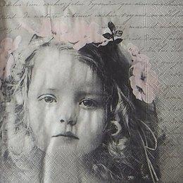 12119. Девочка с цветами. 5 шт., 33 руб/шт