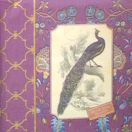 12155. Павлин на фиолетовом.