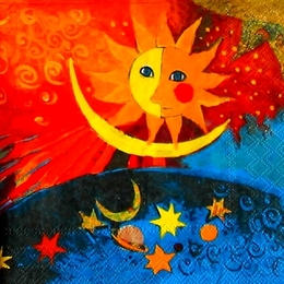 12159. Солнце и месяц.