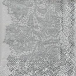 12190. Серебряный узор на белом. 10 шт.