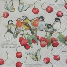 12194. Птички и вишня. 10 шт., 22 руб/шт