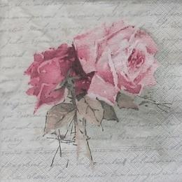 12205. Букет роз на письменах