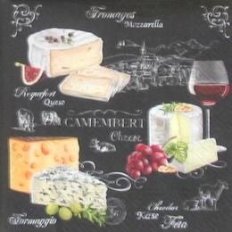 12211. Виды сыра на черном. 5 шт., 24 руб/шт