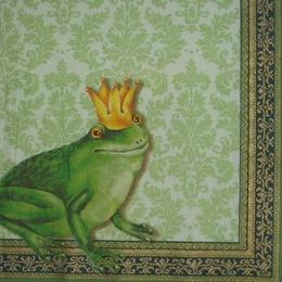 1224. Принцесса-лягушка на зеленом. 10 шт., 7 руб/шт