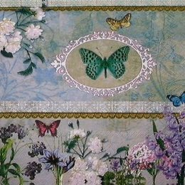 12257. Бабочки в саду