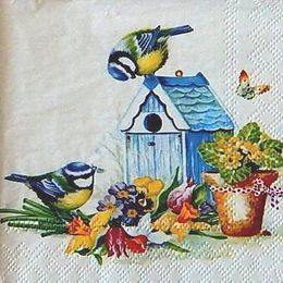 12276. Птички и цветы. 10 шт., 17 руб/шт