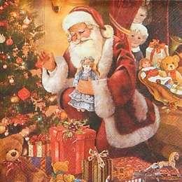 12316. Санта и подарки. 5 шт., 18 руб/шт