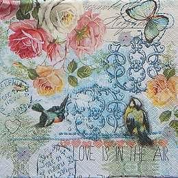 12325. Винтажные розы и птички. 20 шт., 12 руб/шт