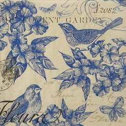 12334. Синяя птица на белом. 5 шт., 24 руб/шт