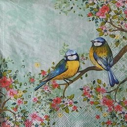 12352. Птицы на ветке. 10 шт., 18 руб/шт