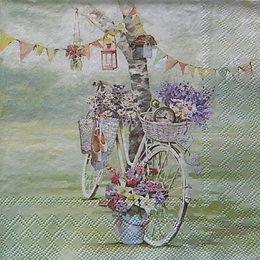 12358. Велосипед и цветы. 5 шт., 23 руб/шт