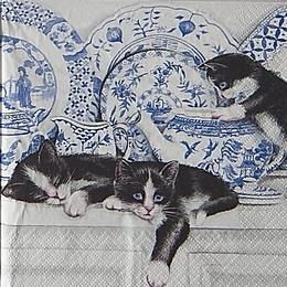 12391. Кошки и гжель. 10 шт., 21 руб/шт