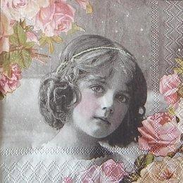 12399. Девочка и розы. 10 шт., 17 руб/шт