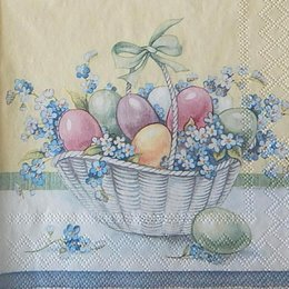 12414. Пасхальные яйца в корзине. 10 шт., 22 руб/шт