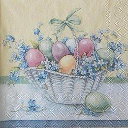 12414. Пасхальные яйца в корзине. 5 шт., 25 руб/шт