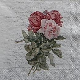 12418. Три розы на письменах. 10 шт., 27 руб/шт