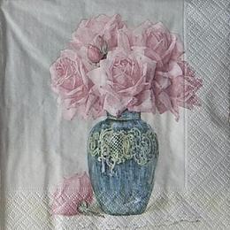 12421. Ваза с розами. 10 шт., 27 руб/шт
