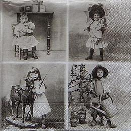 12427. Коллаж дети ретро. 10 шт., 27 руб/шт
