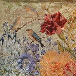 12435. Соловьи в цветах. Punch Studio. 10 шт., 18 руб/шт