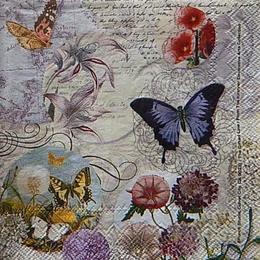 12439. Бабочки и цветы. Punch Studio. 10 шт., 25 руб/шт