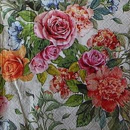 12447. Разноцветные розы. 5 шт., 17 руб/шт