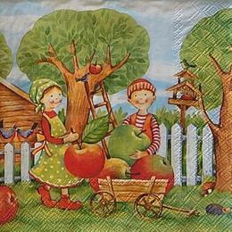 12457. Садоводы с яблоками. 5 шт., 20 руб/шт