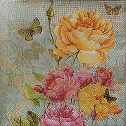 12470. Розы на сером