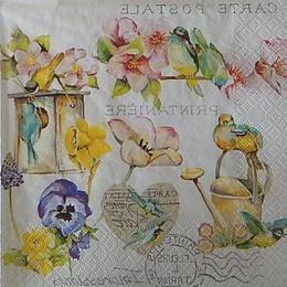 12478. Садовые цветы с сердцем. 10 шт., 21 руб/шт