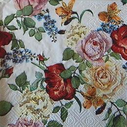 12496. Цветы на белом. 5 шт., 18 руб/шт