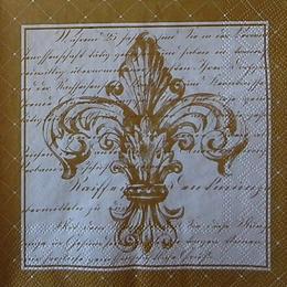 12513. Золотая Французкая лилия на письминах