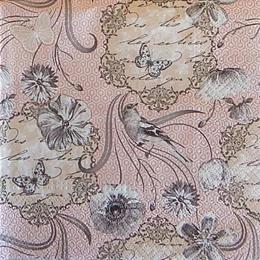 12517. Серые птицы на розовом