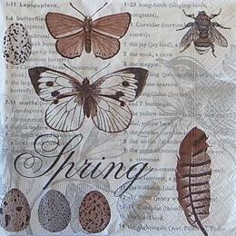 12518. Коричневые бабочки. 5 шт., 17 руб/шт