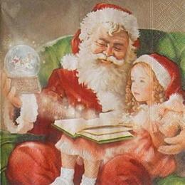 12548. Дед мороз с девочкой