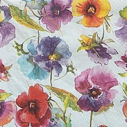 12587. Разноцветные цветы. 10 шт., 14 руб/шт