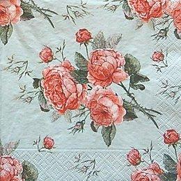 12588. Розы на голубом. 5 шт., 17 руб/шт