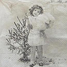 12600. Девочка у елочки. 5 шт., 31 руб/шт