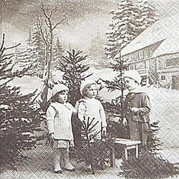 12602. Дети и елочки