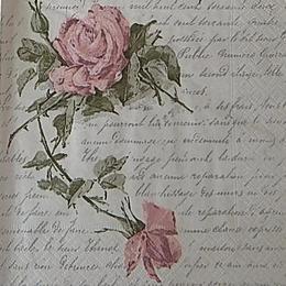 12607. Роза на письменах