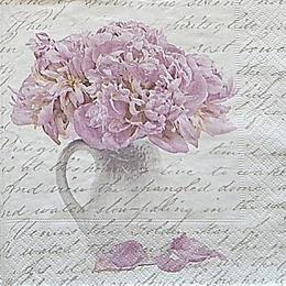 12609. Пионы в вазе на письменах. 20 шт., 25 руб/шт