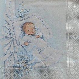 12612. Младенец на голубом