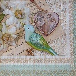 12615. Птица и медальон на письменах