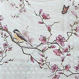 12619. Птица на цветущей ветке. 5 шт., 20 руб/шт
