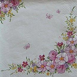 12634. Розовый букет на белом